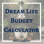 Today I wrote a post on why its so important to know how to calculate your Dream Life Budget. And I've included a handy cheat sheet to help you calculate your own!